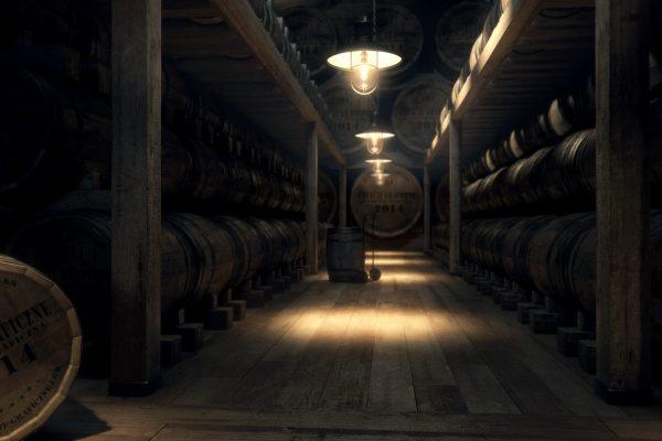 Wizualizacja piwnicy z whisky ver.2, wizualizacje wnętrz
