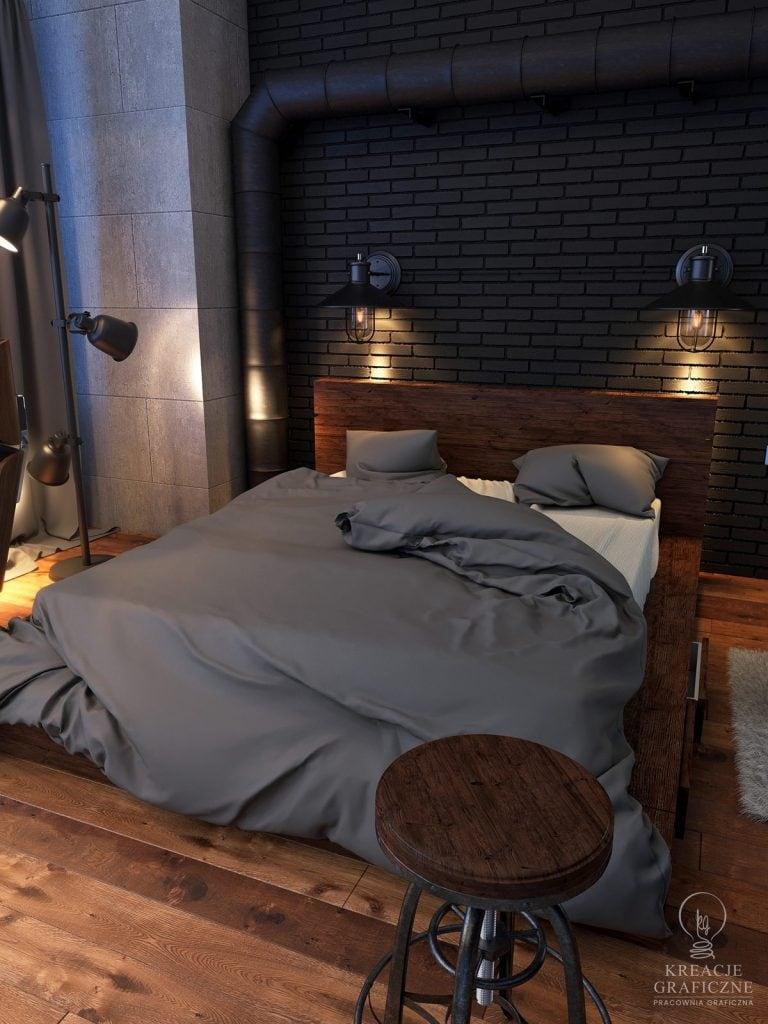 Wizualizacja sypialni ver.4, wizualizacje wnętrz