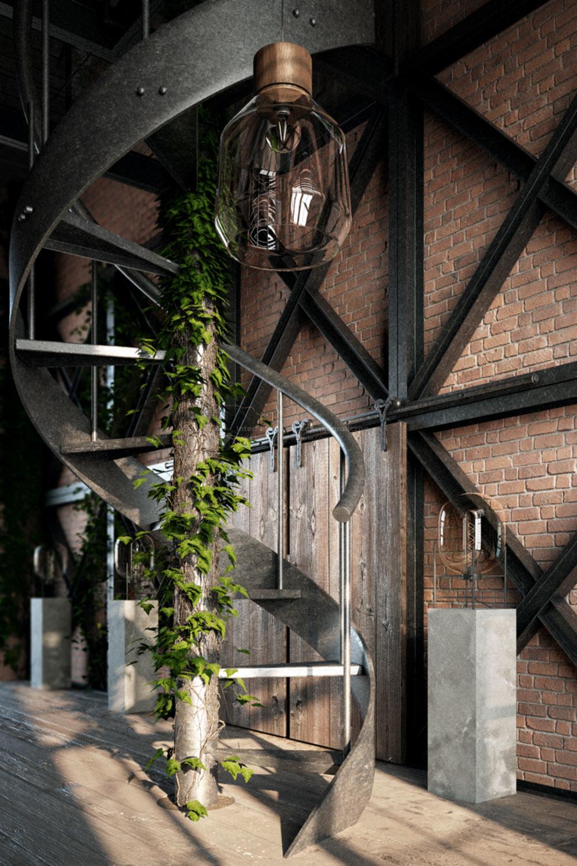 wizualizacje-wnętrz-schody