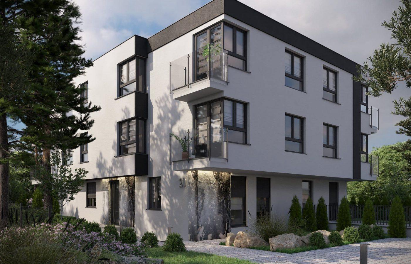 wizualizacja budynku mieszkalnego - przód